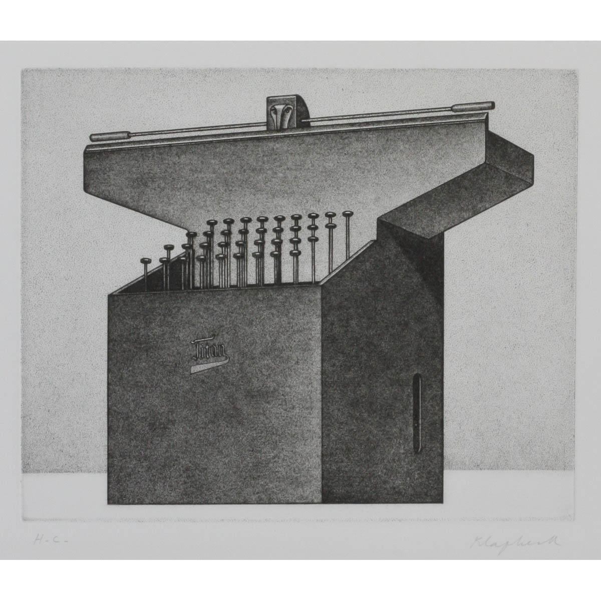 KLAPHECK, KONRAD 1935 Düsseldorf